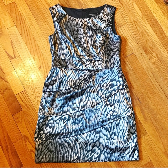 connected apparel Dresses & Skirts - Connected Animal Print Layered Sheath Dress